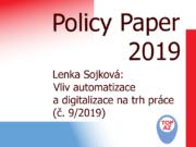 Titulní strana Policy paper č. 9: Lenka Sojková